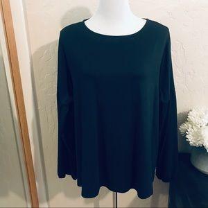 Ava and Viv 2x long sleeve black shirt